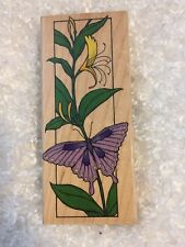 Hero Arts Rubber Stamp Butterfly Bookmark H922 Flower Butterfly
