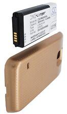 Carcasa dorado + Batería 3800mAh tipo EG-BG8000BBE Para Samsung Galaxy S5 Dx
