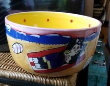 New listing Catzilla 2003 Candace Reiter Designs Cats on Beach & Surfing Serving Bowl