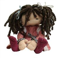 Dilly, 11 inch cloth doll sewing PATTERN by pcbangles.  Fabric soft toy doll.