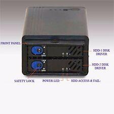 """eSATA SATA External Hard Drive RAID Case holds 2x 2.5"""" SATA HDD SNT ESATA1822"""