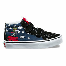 Vans Sk8 Mid V Peanuts Flying Aces Toddler 4.5 Snoopy Blue Skate Shoes New