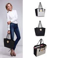 Women's Faux Leather Fashion Large Shopper Tote Laptop Shoulder Handbags Bag