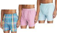 Polo Ralph Lauren MensUnderwear Classic Fit 100% Cotton Woven Boxers 3 Pack LT9