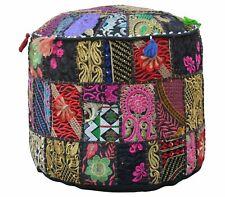 Handmade Bohemian Patchwork Pouffe Cover Ottoman Ethnic Decor Pouffe Foot Stool