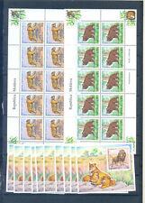 MOLDOVA  SHEETS+ 10  BLOCKS AMIMALS 2001     MNH