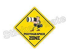 "*Aluminum* Photographer Zone Funny Metal Novelty Sign 12""x12"""
