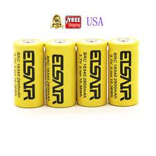 4pcs Brand ETSAIR16340 CR123A 3.7V 2800mAh Rechargeable Li-Ion Battery Batteries