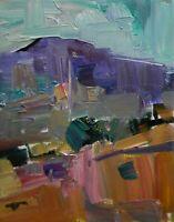 JOSE TRUJILLO - OIL PAINTING 8X10 Impressionism Desert American Art Fauvism HILL