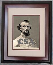 Lt. General Nathan Bedford Forrest • SIGNED • FRAMED
