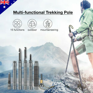 Multi-Function Tactical Trekking Pole Alpenstock Defense Walking Hiking Stick