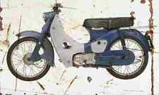Honda CA100 SuperCub 1963 Aged Vintage SIGN A4 Retro