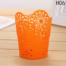 Hollow Flower Brush Storage Pen Pencil Pot Holder Container Table Organizer New