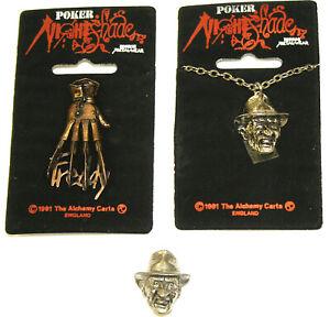 Alchemy Poker Rox NIGHTSHADE Collection Freddy Krueger Pin & Necklace Set