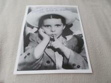 Margaret O'brien Hand Signed Photo
