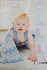 Stylecraft 9506 Knitting Pattern Bambino DK- Blankets