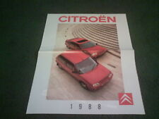Late 1988 CITROEN UK AX / BX RANGE inc GT / 16V - UK LARGE FORMAT BROCHURE K2629
