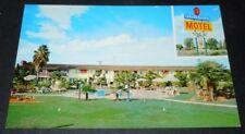 Vintage Postcard Tagus Ranch  Motel Tulare Calif