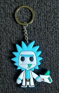 Rick and Morty Double Sided PVC Rubber RICK #2 COMIC BOOK COLLECTORS Key chain