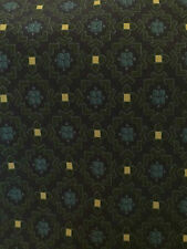 GIORGIO ARMANI Mens Neck Tie MADE IN ITALY SILK NAVY BLUE & GREEN WITH YELLOW
