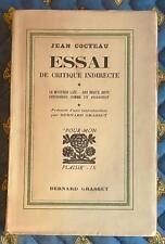 Rare EO Nté, Jean COCTEAU, Essai de critique indirecte, 1932