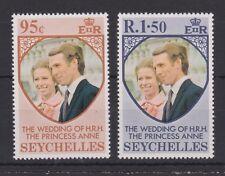 1973 Royal Wedding Princess Anne MNH Stamp Set Seychelles SG 321-322