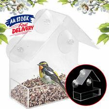 House Window  With Suction  Clear   Birdhouse Feeding  Bird Feeder