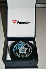Auston Matthews Toronto Maple Leafs Game Model Hockey Puck FANATICS