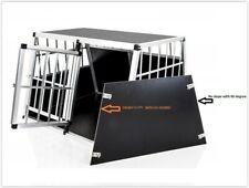 Double Dog Crate XXL Aluminium Transport Carrier Travel Box Car Cage Double Door