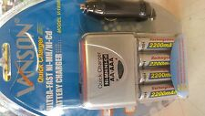 12 + 230v ULTRA Quick Caricabatterie Nimh + NI-CD + 4x BATTERIA 20517