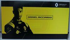 New listing 2019 Daniel Ricciardo F1 Card Formula 1 Renault Driver Postcard Autograph