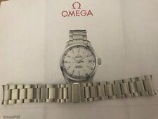 """OMEGA Seamaster Aqua Terra 20mm Bracciale in acciaio 1586/985"""" 100% ORIGINALE"""""""