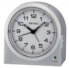 Seiko Bedside/Desk Sweep Second Hand Silver Alarm Clock QHE085S