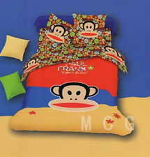 Bedding Quilt Doona Duvet Cover Bed Sheet Pillowcase Set-Paul frank colourfuSALE