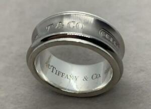 Tiffany & Co. 925 Titanium 1837 Ring  US:Size 5.5