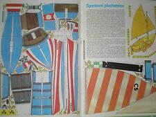 Sports Sailing ship Mistral Czechoslovak rare Paper Model