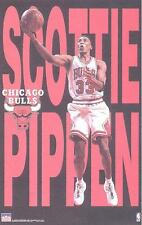 1997 Scottie Pippen Letters Series Chicago Bulls Original Starline Poster OOP