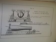 VINTAGE 1879 US ARMY BOOK 'WEAPONS FOR  SIEGE & GARRISON SERVICE' ILLUSTRATED!