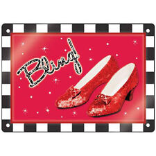 "WIZARD OF OZ ""BLING"" RUBY SLIPPERS sign! Item 17261 - FREE SHIPPING!"