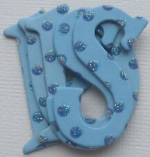 Best Creation - SKY BLUE -  Polka Dots Chipboard Alphabet Letters Die Cuts 1.5""