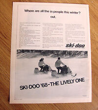 1968 Ski-Doo Snowmobile Ad  Where are all the IN people this Winter? Out