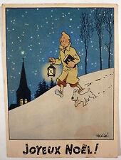 Tintin Hergé Carte neige BE