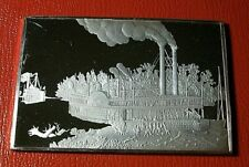 """Currier & Ives """" Wooding Up.on the Miss """" 2.75 oz .999 Silver by Franklin Mint"""