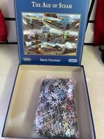 GIBSONS 1000 PIECE JIGSAW PUZZLE THE AGE OF STEAM BY BARRY FREEMAN