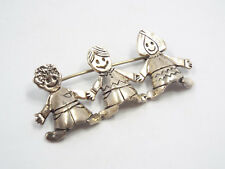 Children Brooch Pin, 11.1 grams Efs Sterling Silver Save The