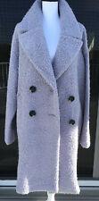 TOPSHOP PURPLE BUCKLE YARN COAT XL TALL