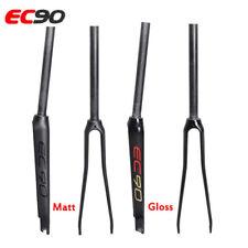 """EC90 700C Fork Carbon Fibre Road Bike Fixed Gear Front Forks 1-1/8"""" Superlight"""