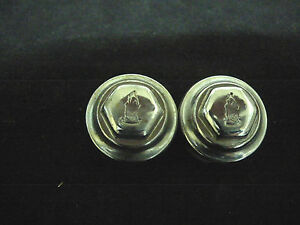 Vintage RALEIGH bicycle pedal dustcaps pair with logo NOS