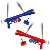 Dog Ball Cannon Launcher Gun Fetch Toy Tennis Balls Outdoor Poo Bag Dispenser