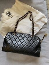 Vintage CHANEL Black Quilted Duffle